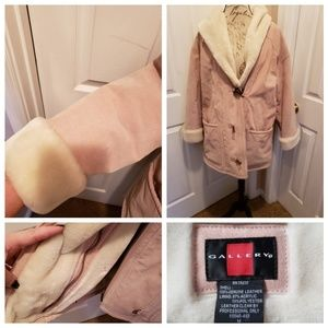 Genuine soft pink leather coat NWOT from Vic Sec
